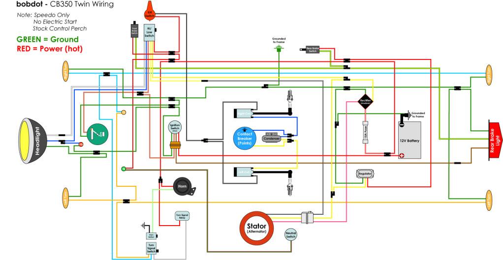 honda twins wiring diagram cb350 build -